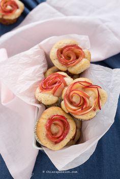 Ricetta Muffin alle mele (rose di mele)- Chiarapassion