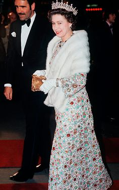 attending a premiere in The West End, 1973