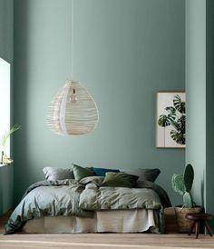 Decorating with Modern Earthy Home Decor - Home Decor Design Interior, Green Decor, Bedroom Design, Bedroom Green, Home Decor, Room Decor, Bedroom Colors, Earthy Home Decor, Interior Design