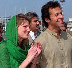 Imran with wife Jemima