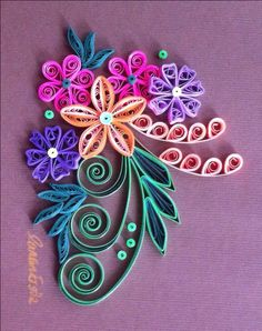 Colorful. Quilling. By Canan Ersöz.