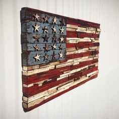 usa wooden flag...
