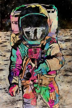 astronauta a color