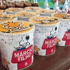 Lata de batata do Snoopy #Snoopy #snoopyparty #decoracaoinfantil #festademenino #festasnoopy #festainfantil #lembrancinhaspersonalizadas #personalizados #encontrandoideias #festasdecriancas #festasinfantis