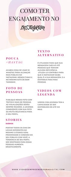 Story Instagram, Instagram Blog, Instagram Posts, Social Marketing, Digital Marketing, Doula Business, Canal E, Blog Love, Copywriting