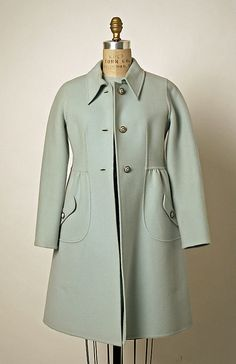 Valentino Wool and Leather Dress and Coat, 1968-69