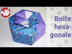 Origami - Boîte hexagonale de Tomoko Fuse - Hexagonal box [Senbazuru] - YouTube
