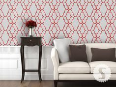 Removable wallpaper.  Great for apartments/renters or if you want to change the look once in a  while