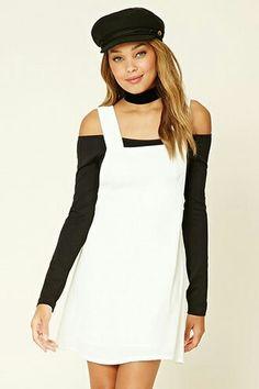 Forever 21: White Skirt Overalls