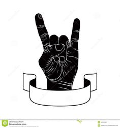 Rock On Hand Sign, Rock N Roll, Hard Rock, Heavy Metal, Music, D ...