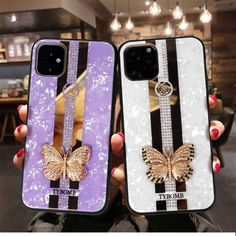 iphone 11 case luxury on Mercari Cool Phone Cases, Iphone Phone Cases, Iphone 11, Diamond Glitter, Sparkles Glitter, Unique Fashion, Look Fashion, Lavender Aesthetic, Leather Case