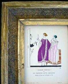 Art Deco French Pochoir from the Bon Ton by DuncanGrantAntiques