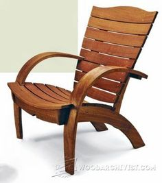 Garden Chair Plans - Outdoor Furniture Plans and Projects - Woodwork, Woodworking, Woodworking Plans, Woodworking Projects Lawn Chairs, Garden Chairs, Outdoor Chairs, Outdoor Decor, Adirondack Chairs, Garden Benches, Woodworking For Kids, Easy Woodworking Projects, Woodworking Plans