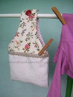 Clothespins bag