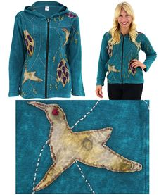 Hum Me Your Song Hooded Jacket at The Rainforest Site