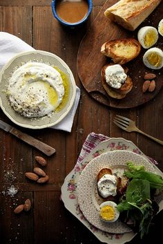 Whipped Ricotta with lemon and olive oil.