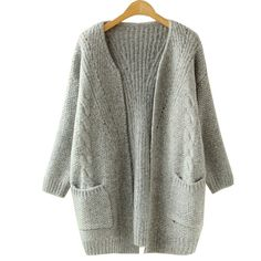 2016 Autumn Korean Version Solid Color Pocket Loose Sweater Female Long Sweater Cardigan Sweater-in Cardigans from Women's Clothing & Accessories on Aliexpress.com | Alibaba Group