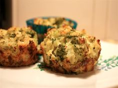 Broccoli Cheddar Rice Cups | Slender Kitchen