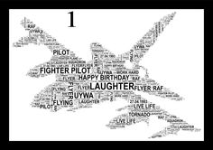 Tornado Fighter Plane Personalised Word Art A4 Print, FREE UK P&P. Typography, Wall Art. Unusual gift, - pinned by pin4etsy.com