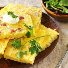 Brunch Recipe for a Crowd: Country Ham & Onion Quiche Baked in a Sheet Pan