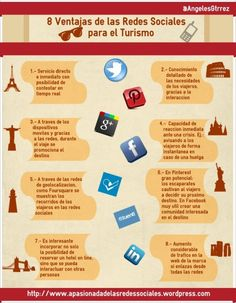 Infografía Ventajas de Redes Sociales en Turismo por @Angeles W. Gutiérrez Valero #infografia #turismo Marketing Cultural, Tourism Marketing, Internet Marketing, Online Marketing, Social Media Marketing, Digital Marketing, Latest Technology Gadgets, Ap Spanish, Thematic Units