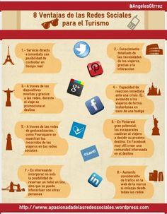 Infografía Ventajas de Redes Sociales en Turismo por @angelesgtrrez