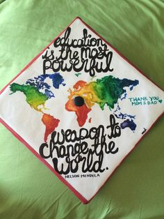 World Map Graduation Cap