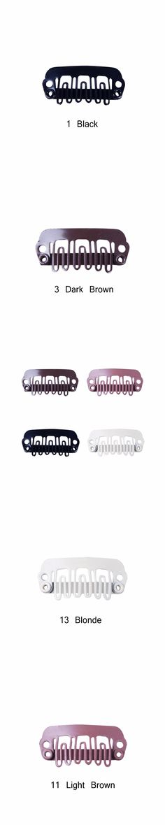 100pcs 24mm U Tip Snap Metal Clips for Human Clip In Hair Extensions/Wig/Hair Weft