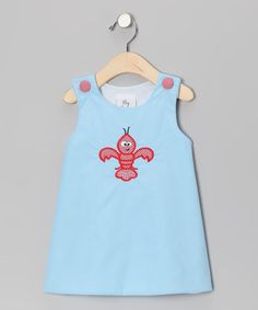 Take a look at this Lollypop Kids Blue Crawfish Jumper - Infant & Toddler by Lollypop Kids Clothing on #zulily today!