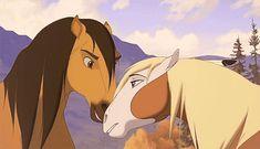 Spirit: Stallion of the Cimarron Spirit Horse Movie, Spirit The Horse, Spirit And Rain, Dreamworks Animation, Disney And Dreamworks, Disney Pixar, Gif Caballos, Horse Drawings, Animal Drawings