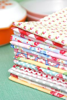 MessyJesse: fabric stack of fabrics from my shop!  :)
