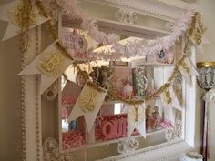 A banner to add to the Florentine lace swags