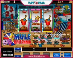 Ready for another beach party?   Mule Britannia by Microgaming is a great option for you. This game will turn your perception of Vegas slots upside down.   Play this hilarious wheel of fortune at www.slotozilla.com | http://www.slotozilla.com/free-slots/mule-britannia
