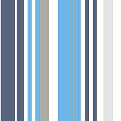 Be You kinderbehang moderne streep in rood-blauw-grijs   Praxis