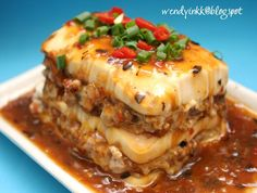 Table for 2.... or more: Steamed Layer Stuffed Tofu