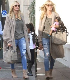 ba9114a1afa Heidi Klum and her daughter shopping at The Grove in Hollywood on October  18