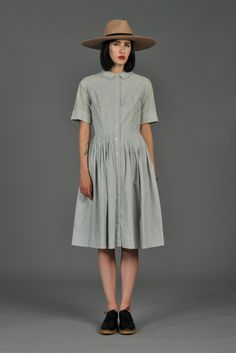 bustown-modern-vintage-green-50s-pinstripe-button-down-shirt-dress-002.jpg…