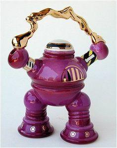 Purple robot teapot by Paul cardew Very cute