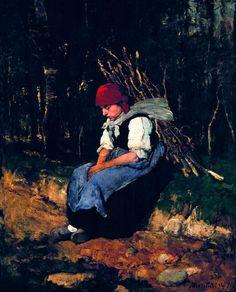Munkácsy Mihály - Rőzsehordó nő 1873