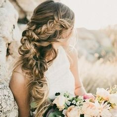 loose curls and soft waves