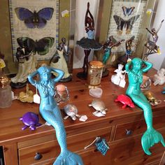 Here is a small sample of our eclectic home decor, including: mermaids, dancers, turtles, butterflies, cats, and ballerinas. #theclutterhouse #localaz #mermaids #majestic