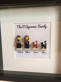 Custom LEGO Family Customized Frame door OurBrickLibrary Source by auroremargarita Vitrine Lego, Deco Lego, Fun Crafts, Diy And Crafts, Diy Cadeau, Decoration Inspiration, Lego Projects, Custom Lego, Lego Pieces