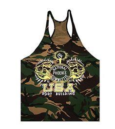 New para hombre chaleco de entrenamiento en el gimnasio muscular sábana bajera ajustable Patrón de camuflaje camiseta de manga corta Tank Tops Color1 Large #camiseta #starwars #marvel #gift