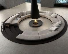 Amazing indoor firepit