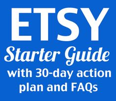 How to Start an Etsy Shop a PDF guide for beginners