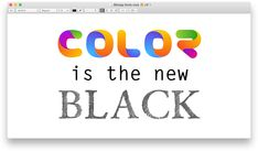 So color fonts are a thing... really!