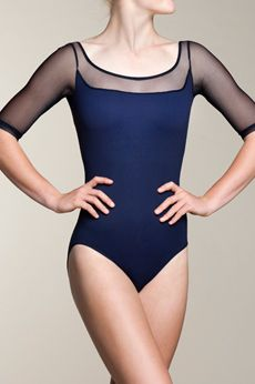 Our Celeste bodysuit with mesh exudes maturity, elegance, and grace. Comes with shelf lining and is available in navy and black. Our favourite part of this gorgeous leotard? The back! What do you love about your Ainsliewear?