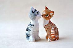 Custom cat figurine  personalized cat от JasminBlancBoutique