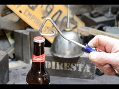 Skilled Maker Demonstrates How to Craft DIY Bottle Openers Using Random Toolbox Items