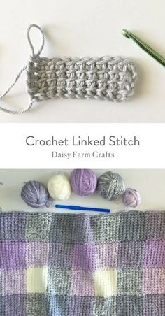 Free Pattern - Crochet Linked Stitch #crochet